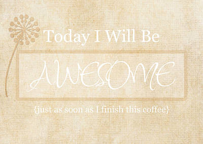Awesome After Coffee Poster