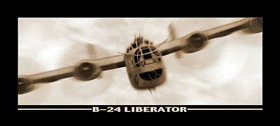 B 24 Liberator Poster by Mike McGlothlen