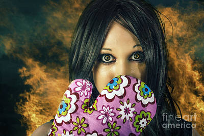 Bad Cooking Woman Burning Down House Poster by Jorgo Photography - Wall Art Gallery