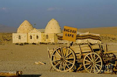 Bagdad Cafe Sign, Syria Poster by Adam Sylvester