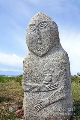 Balbal Monument At Cholpon Ata In Kyrgyzstan Poster