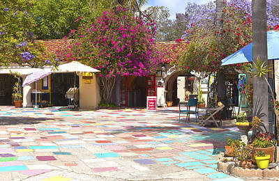 Balboa Park Spanish Village San Diego California. Poster by Gino Rigucci