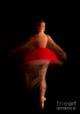 Ballet Dancer In Red Tutu Poster