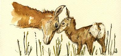 Bambi Deer Poster by Juan  Bosco
