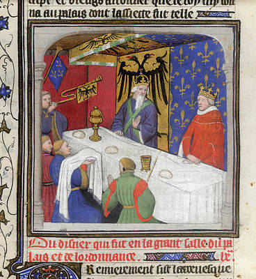 Banquet Of The Emperor And King Poster by British Library