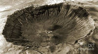 Barringer Crater, Aerial Photograph Poster