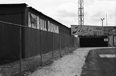 Baseball Field Bull Durham Sign Poster by Frank Romeo