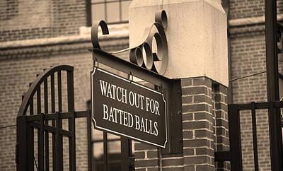 Baseball Warning Poster by Frank Romeo