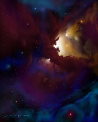 Bat Nebula Poster by James Christopher Hill