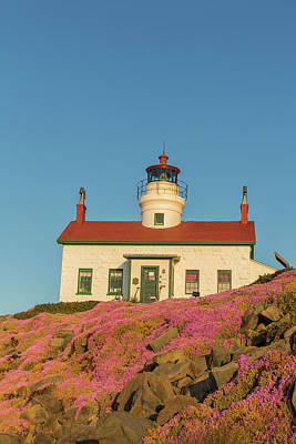 Battery Point Lighthouse In Crescent Poster by Chuck Haney