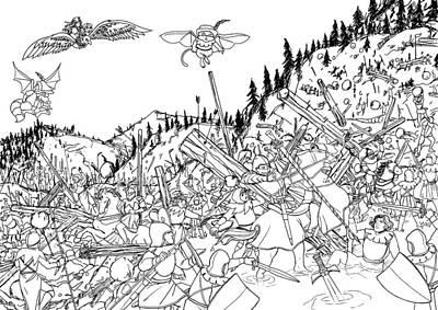 Battle At Morgarten Poster by Reynold Jay