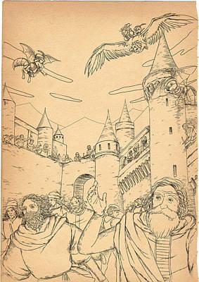 Battle At Unterwaldon Poster by Reynold Jay