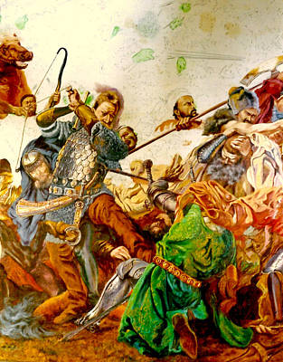 Poster featuring the painting Battle Of Grunwald by Henryk Gorecki