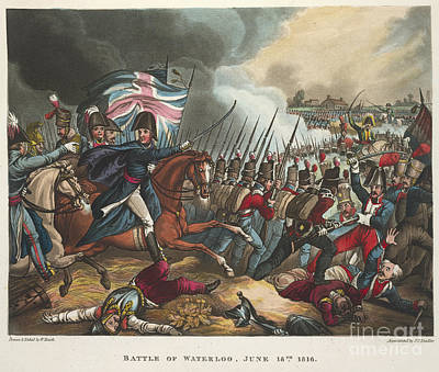 Battle Of Waterloo Poster by British Library