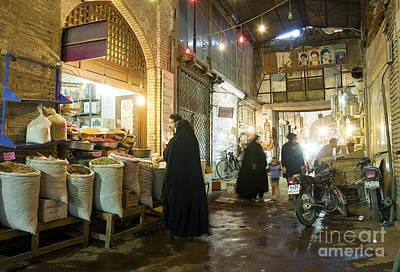 Bazaar Market In Isfahan Iran Poster