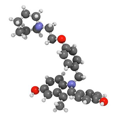 Bazedoxifene Osteoporosis Drug Molecule Poster by Molekuul