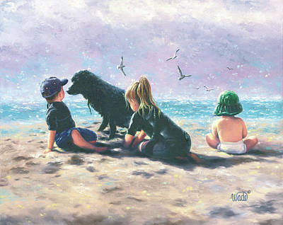 Beach Buddies Poster by Vickie Wade