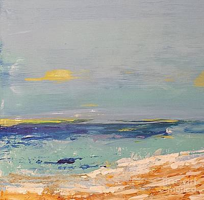 Poster featuring the painting Beach by Diana Bursztein