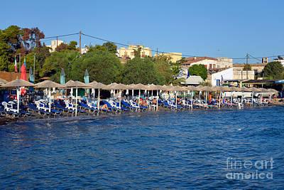 Beach In Aegina Town Poster