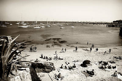 Beach View In Cascais Poster by John Rizzuto