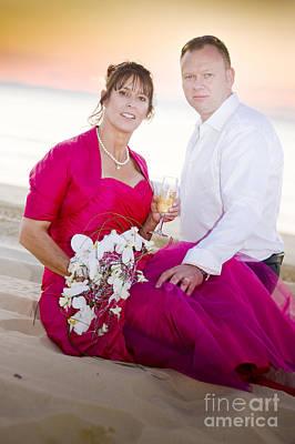 Beach Wedding Couple Poster by Jorgo Photography - Wall Art Gallery