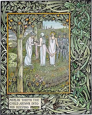 Beardsley Morte D'arthur Poster by Granger