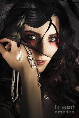 Beautiful Female Fashion Model In Luxury Jewellery Poster