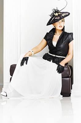 Beautiful Sexy Girl In High Fashion Poster