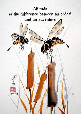 Poster featuring the painting Beeing Present by Bill Searle