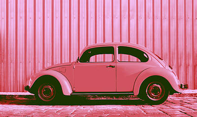 Beetle Pop Pink Poster by Laura Fasulo