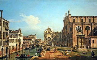 Bellotto's The Campo Di Ss. Giovanni E Paolo In Venice Poster by Cora Wandel