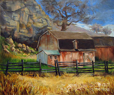 Poster featuring the painting Bellvue Barn by Carol Hart