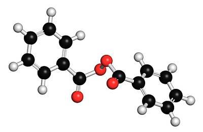 Benzoyl Peroxide Acne Drug Molecule Poster by Molekuul