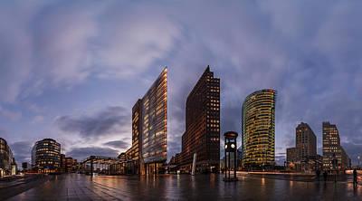 Berlin - Potsdamer Platz Panorama Poster by Jean Claude Castor