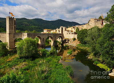 Besalu A Medieval Town In Catalonia Spain Poster by Louise Heusinkveld