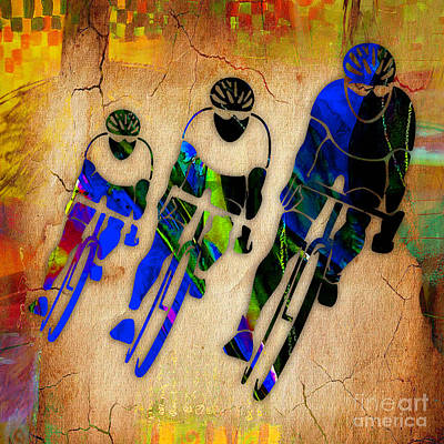 Bicycle Painting Poster by Marvin Blaine