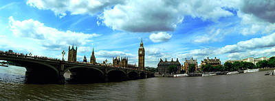 Big Ben And Houses Of Parliament Viewed Poster by Panoramic Images