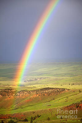 Big Horn Rainbow Poster by John Stephens