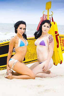 Bikini Girls Poster by Jorgo Photography - Wall Art Gallery