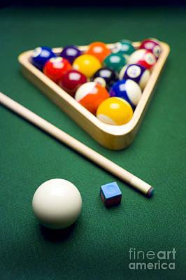 Billiards Poster by Tony Cordoza