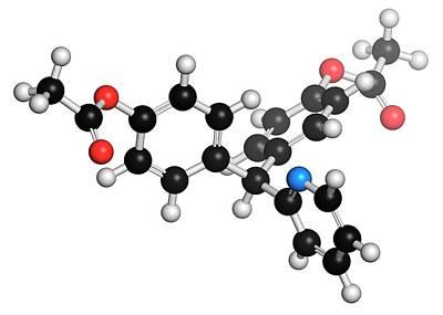 Bisacodyl Laxative Drug Molecule Poster by Molekuul
