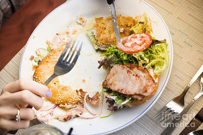 Bistro Patron Halfway Through Chicken Salad Bagel Poster by Jorgo Photography - Wall Art Gallery