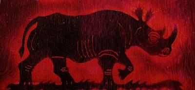 Black Rhino Poster by Larry Campbell