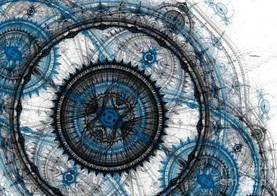 Blue Clockwork Poster