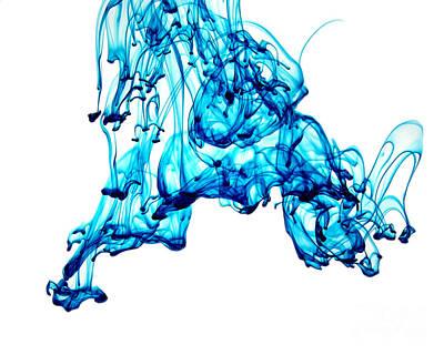 Blue Descent Poster by Liz Masoner