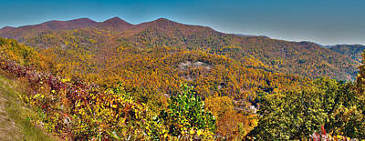 Poster featuring the photograph Blue Ridge Parkway by Alex Grichenko