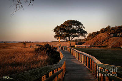 Boardwalk At Fort Fisher Poster by Phil Mancuso