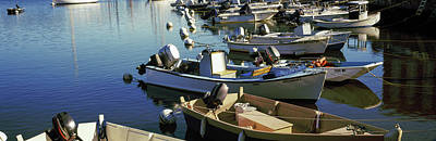 Boats At A Harbor, Provincetown, Cape Poster by Panoramic Images