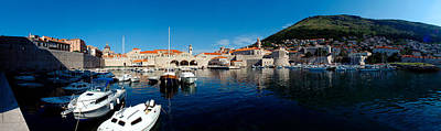 Boats In The Sea, Old City, Dubrovnik Poster by Panoramic Images