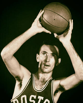 Bob Cousy Of The Boston Celtics 1950s Poster by Mountain Dreams